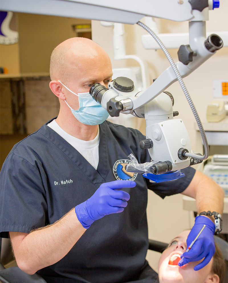 Microscopic endodontics, state-of-the-art fiber optic equipment